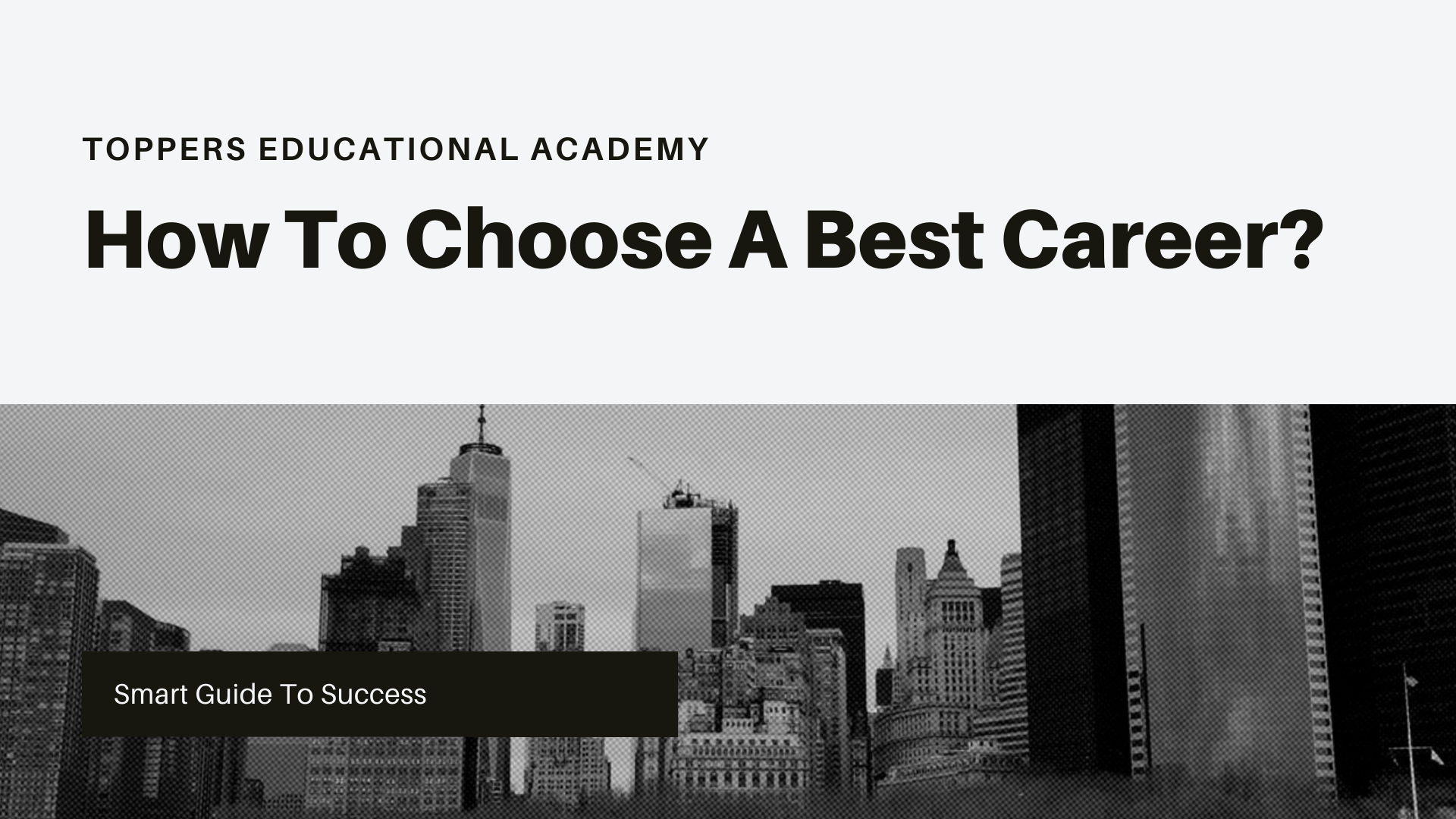 How to choose a best career?