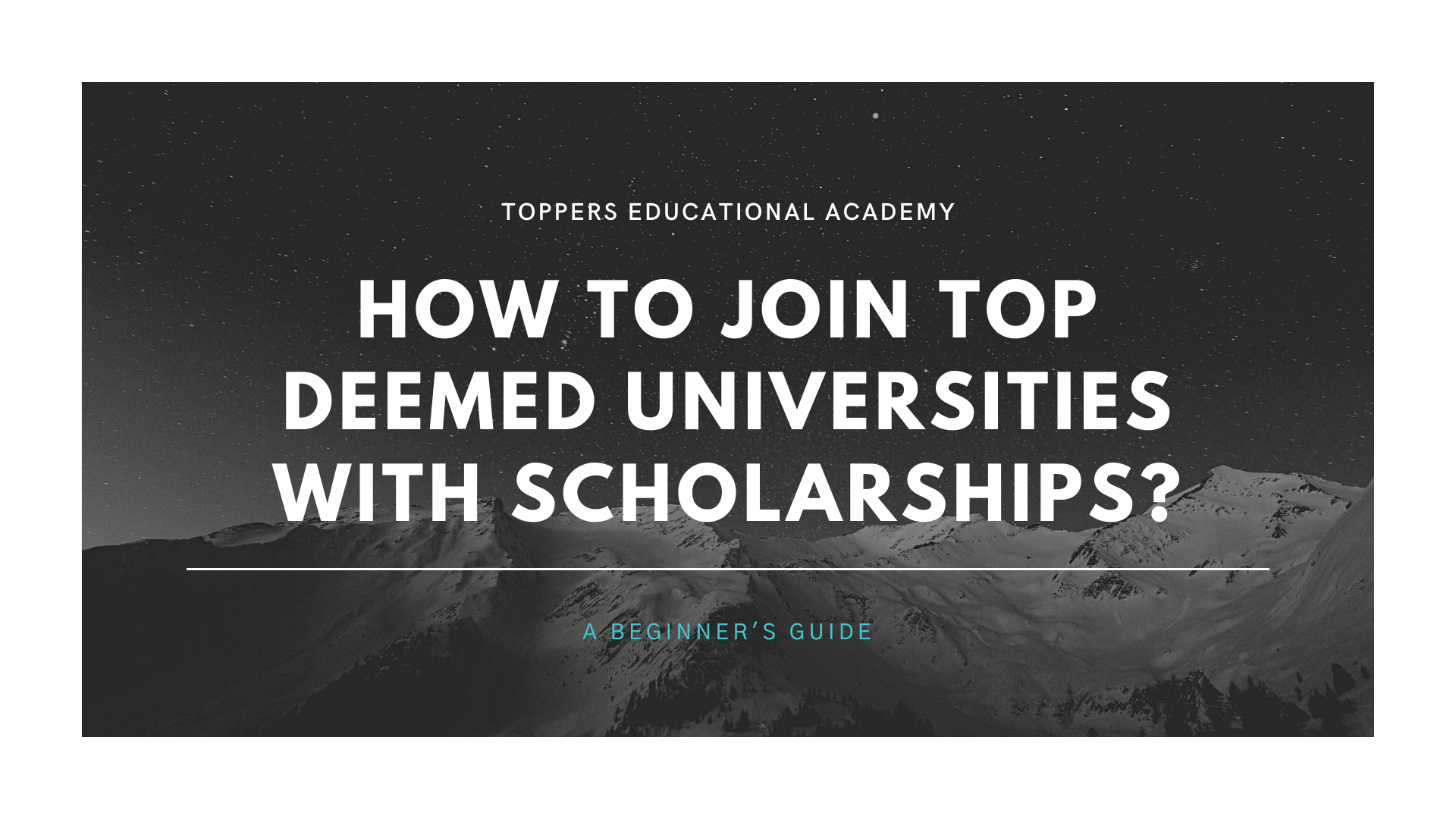 How to join top deemed universities with scholarships?