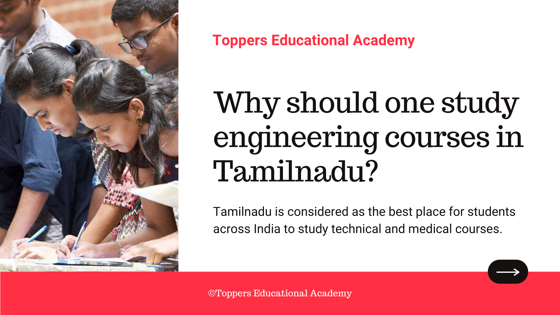 Why should one study engineering courses in Tamilnadu?
