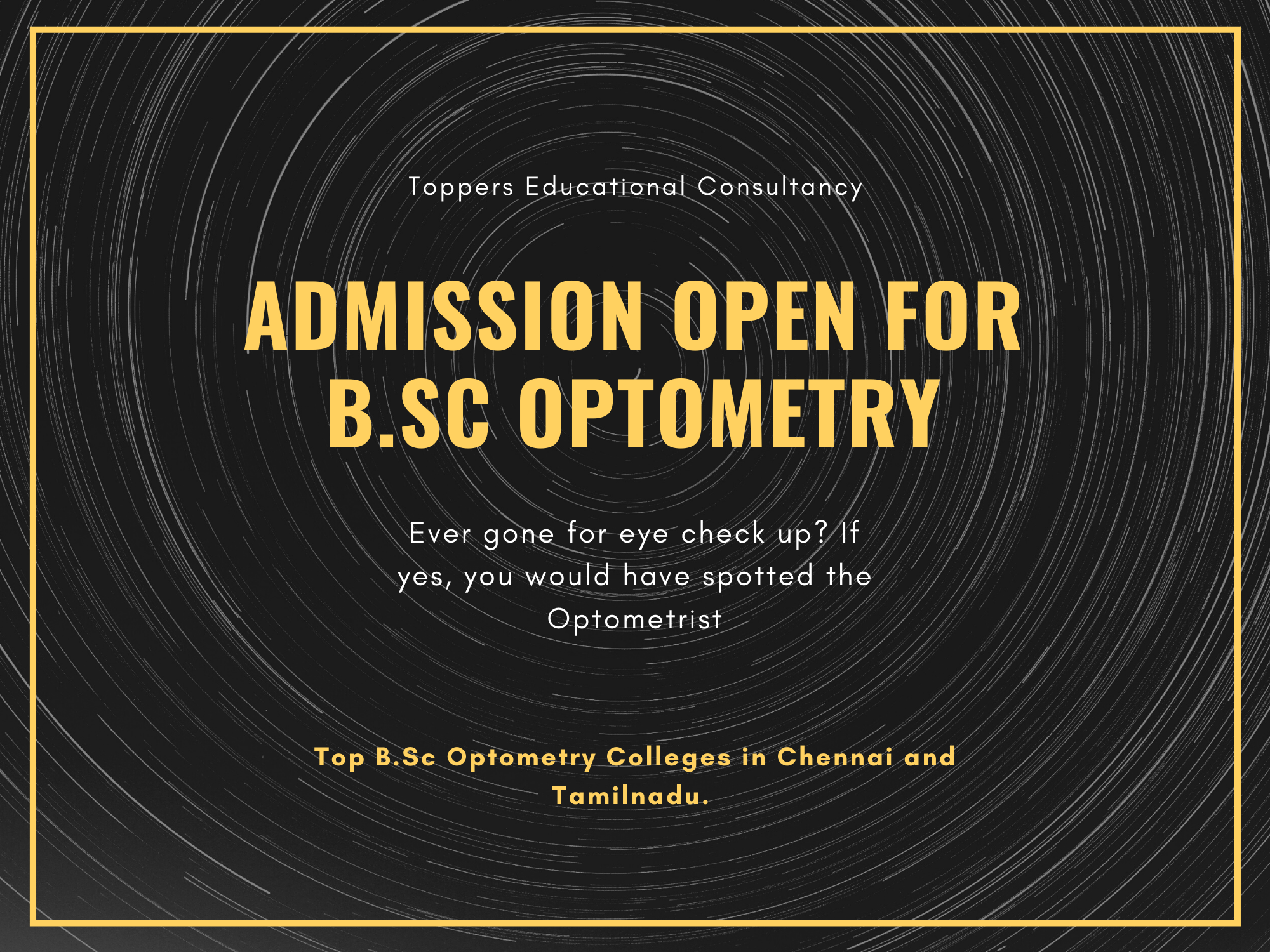 Top B.Sc Optometry Colleges in Chennai and Tamilnadu.